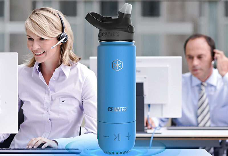 smart water bottle with music