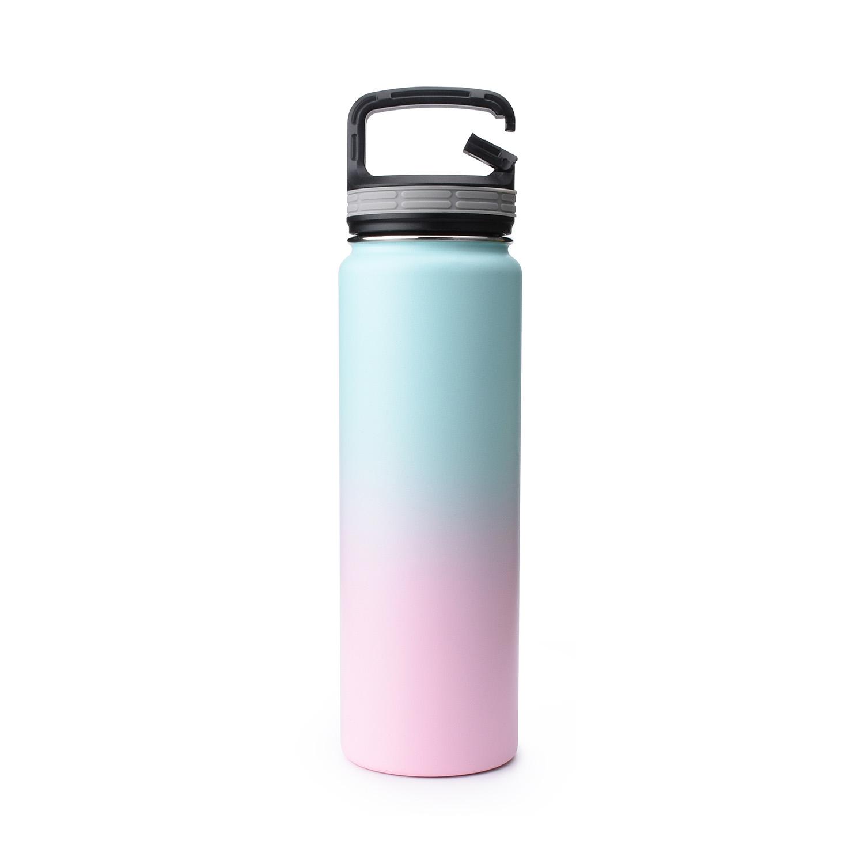 Vacuum Flask water bottle blank bubble gum Simple Iron modern